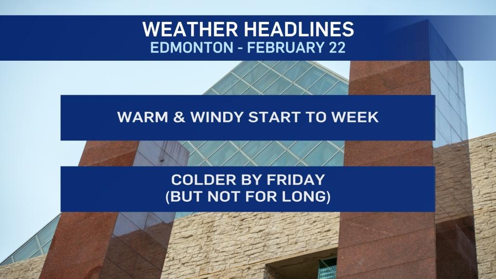 Feb. 22 weather Edmonton forecast