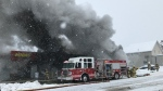 North Bay fire crew at Midas on Main Street. Feb. 22/21 (Alana Pickrell/CTV Northern Ontario)
