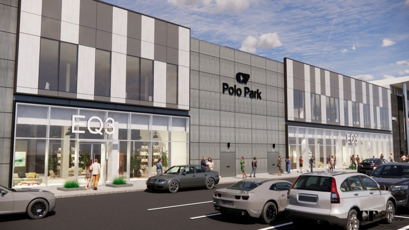 A rendering shows what a EQ3 store will look like at CF Polo Park once completed. (Image courtesy: Cadillac Fairview)