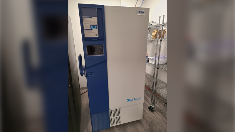 Industrial sized freezer donated to the WEHCU from Chapman's Canada to store COVID-19 vaccines. (courtesy Windsor-Essex County Health Unit)