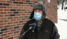 John Degagner has been living at The Towers apartment building on Paris Street for three years now. Lately, he said he's fed up with people not wearing face coverings where it's mandatory. (Photo from video)
