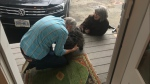 Callie the cairn terrier is reunited with her owners after getting trapped under a stranger's deck for 40 hours in White Rock, B.C.
