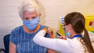 Albertans born in 1946 and earlier can now book vaccinations, but the website and phone lines were down on Wednesday morning. (File photo)