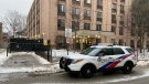 291 George Street is seen on Feb. 23, 2021 after a man was killed there in an encounter with police. (Brian Weatherhead/CTV News Toronto)