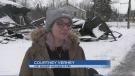 Courtney Verhey of Iron Bridge and her family lost their home and business in a fire over the weekend. Feb. 22/21 (Christian D'Avino/CTV Northern Ontario)