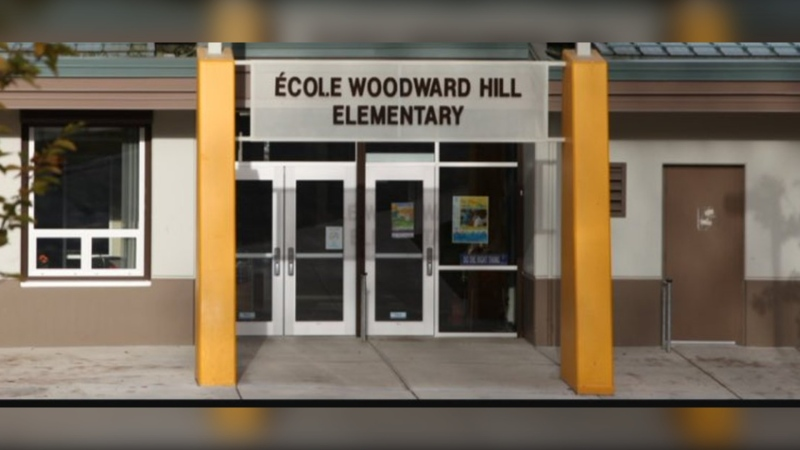 Ecole Woodward Hill Elementary in Surrey. (Ecole Woodward Hill/Twitter)