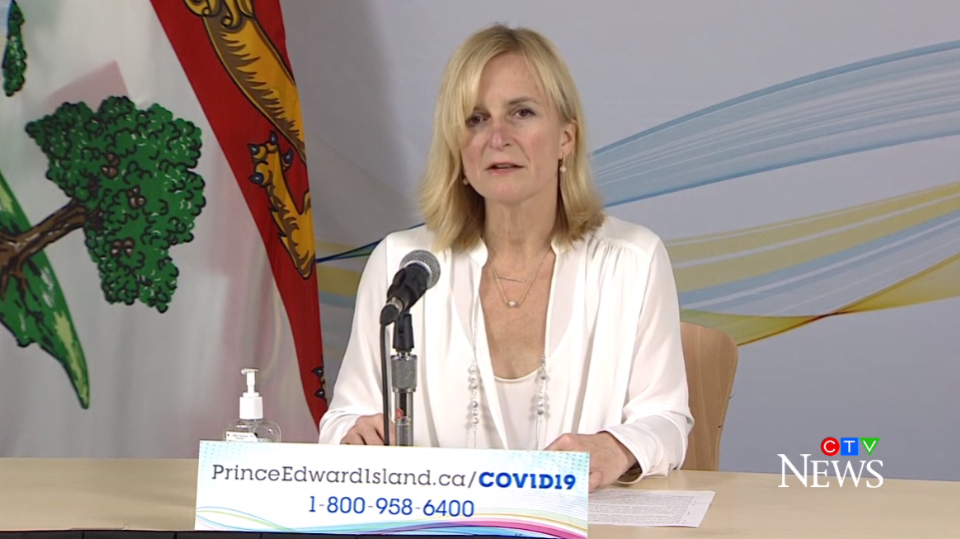P.E.I. chief public health officer Dr. Heather Morrison provides an update on COVID-19 in the province on Feb. 23, 2021.