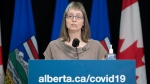 Alberta's chief medical officer of health Dr. Deena Hinshaw provided, from Edmonton on Monday, February 22, 2021, an update on COVID-19 and the ongoing work to protect public health. (photography by Chris Schwarz/Government of Alberta)