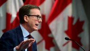 Bank of Canada Governor Tiff Macklem takes part in a news conference at the Bank of Canada in Ottawa on Dec. 15, 2020. (Sean Kilpatrick / THE CANADIAN PRESS)