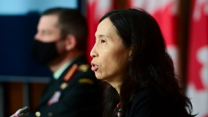 Chief Public Health Officer Dr. Theresa Tam provides an update on the COVID-19 pandemic in Ottawa on Friday, Jan. 8, 2021. THE CANADIAN PRESS/Sean Kilpatrick