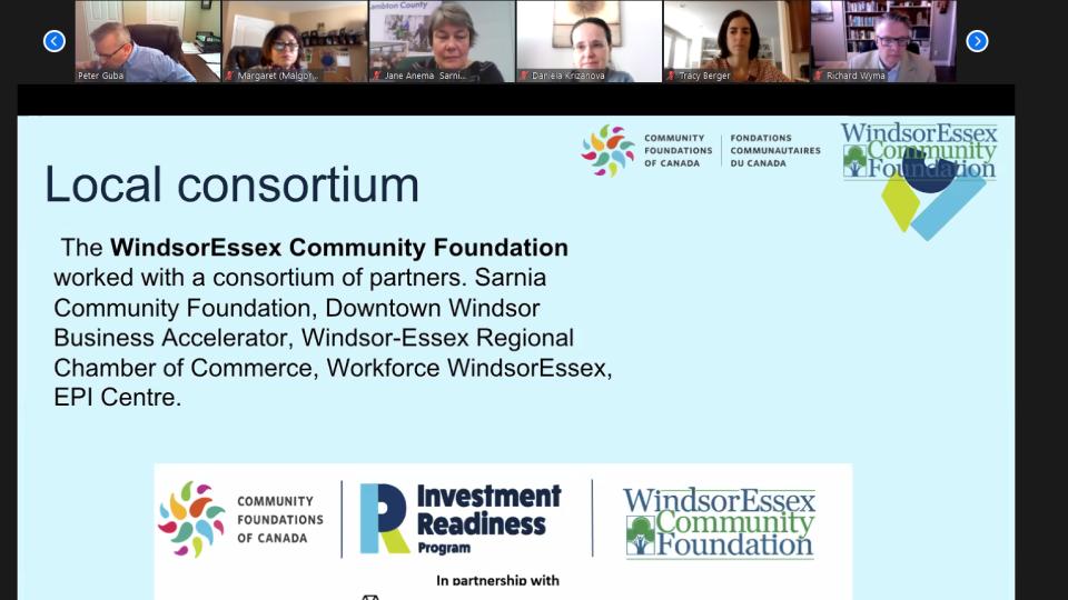 screen grab windsor community foundation