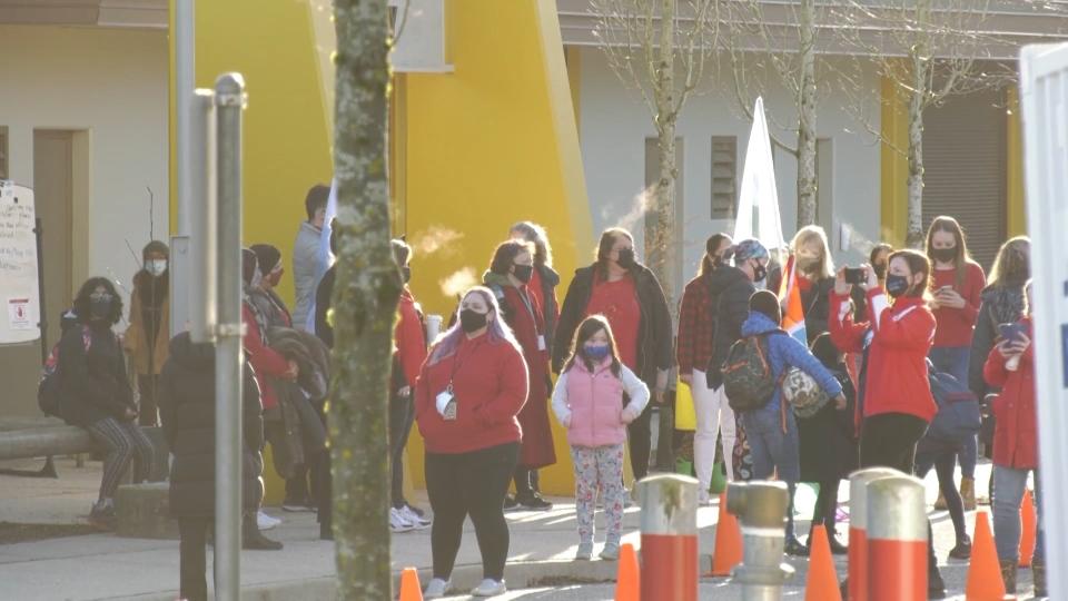 Surrey school march