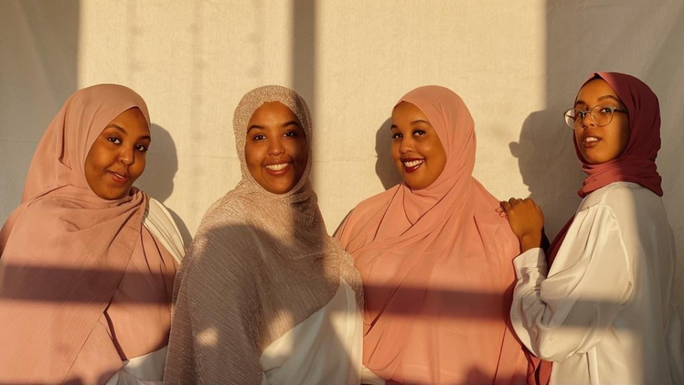 Sisters (left to right) Samia, Juweria, Aisha, and Maynuuna Yusuf co-founded Abayo House to increase and improve the representation of Black, Muslim women in literature. (Photo provided)