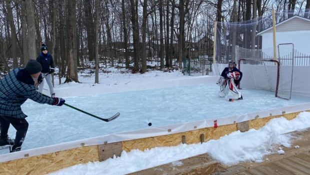 Backyard ice rinks in Windsor-Essex (submitted by Jacqueline Ondic)