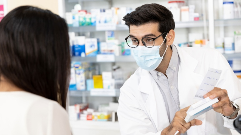If you regularly take medication for chronic conditions like high cholesterol or hypertension, you could be eligible to receive a prescription renewal from your pharmacist, keeping you safe and healthy until you can reconnect with your doctor during business hours. (Image via iStock)