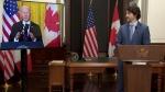Trudeau and Biden meet