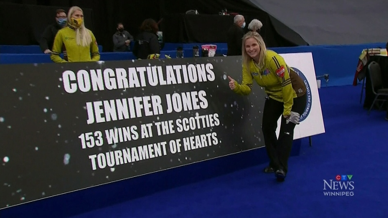 Jennifer Jones sets Scotties record