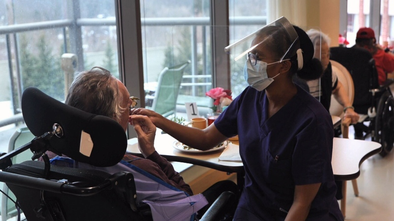 Chester Village, a not for profit long-term care home in Toronto, was one of the first homes to get vaccinated in early January, allowing the home to begin loosening some restrictions.