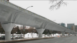 CTV News created a graphic of what it might look like if the REM line were running above ground on Rene-Levesque Blvd. in Montreal.
