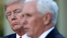 Former Vice President Mike Pence maintains a close personal friendship with former President Donald Trump. In this file image from April 27, 2020, Pence and Trump are seen at the White House in Washington, D.C. (Win McNamee/Getty Images/CNN)