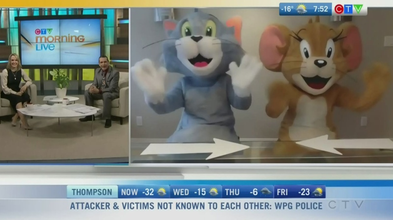 Nicole and Michael chat with Tom and Jerry