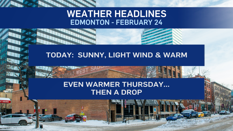 Feb 24 Edmonton weather