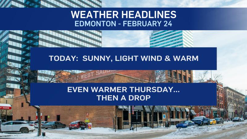 Feb 24 Edmonton weather