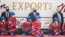 Montreal Canadiens assistant coach Dominique Ducharme (right) will take over from head coach Claude Julien, centre, and assistant coaches Kirk Muller, left, who were fired Wednesday.THE CANADIAN PRESS/Graham Hughes