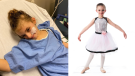 Ella Huot-Attia suffers from Episodic attaxia which causes her muscles to ripple and atrophy and cancellation of dance classes and other services have caused her condition to worsen and leave her in bed most of the day. SOURCE: Anne-Marie Huot-Attia