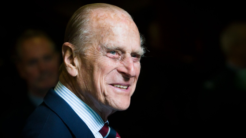 The Duke of Edinburgh smiles during a visit to the headquarters of the Royal Auxiliary Air Force's (RAuxAF) 603 Squadron on July 4, 2015 in Edinburgh, Scotland. (Photo by Danny Lawson - WPA Pool/Getty Images)