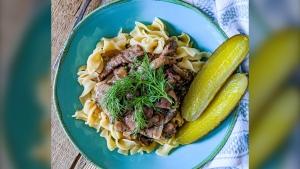 Slow-Cooker Beef Stroganoff