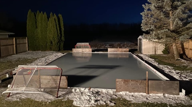 Backyard ice rinks in Windsor-Essex. (Submitted by Chad Bizzo)
