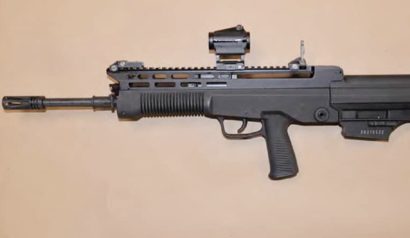 Three people from Sudbury are facing numerous drug and weapons charges after Greater Sudbury Police raided a residence in the South End of the city Feb. 20. Items seized include this assault rifle. (Supplied)