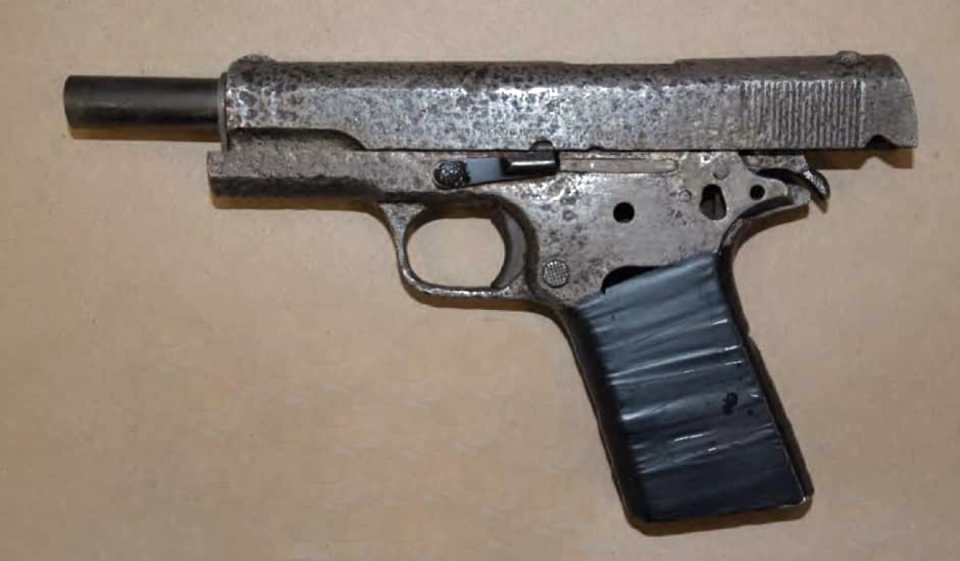 Three people from Sudbury are facing numerous drug and weapons charges after Greater Sudbury Police raided a residence in the South End of the city Feb. 20. Items seized include this handgun. (Supplied)