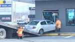Police say that at approximately 1:15 p.m. on Wednesday a vehicle struck the McDonald's restaurant at 645 Windmill Rd. (CTV ATLANTIC / NATASHA PACE)