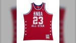 A pop-up sports apparel and memorabilia store is selling a Michael Jordan All-Star game replica jersey for $19,500.
