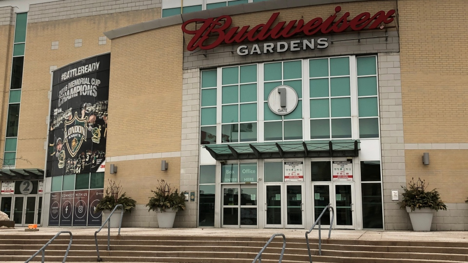 Budweiser Gardens in London, Ont. is seen Wednesday, Feb. 24, 2021. (Jim Knight / CTV News)