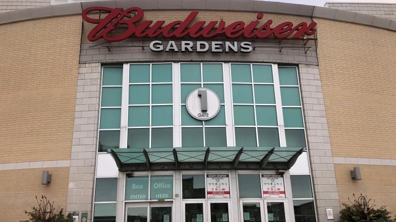 Budweiser Gardens in London, Ont. is seen Wednesday, Feb. 24, 2021. (Jim Knight / CTV News)