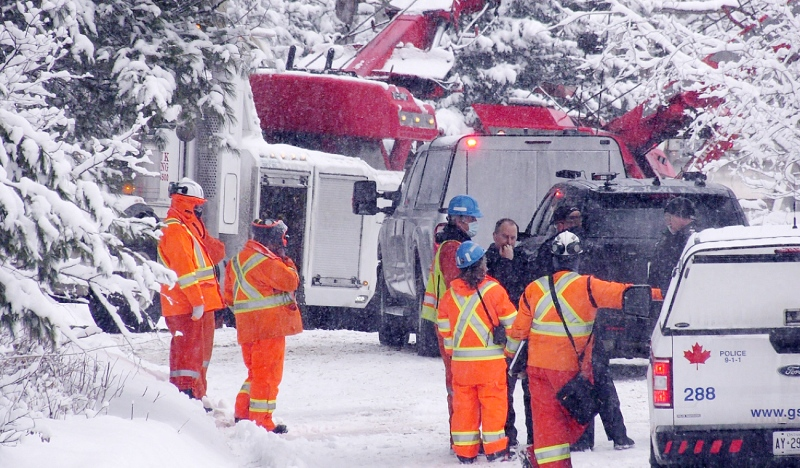A 29-year-old man has died following a fatal industrial crash Wednesday afternoon on Powerhouse Road near the Wabagishik Power Plant. (Ian Campbell/CTV News)