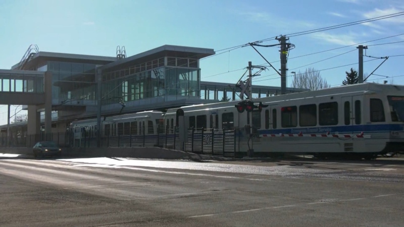 Century Park LRT Station. Feb. 24, 2021. (CTV News Edmonton)