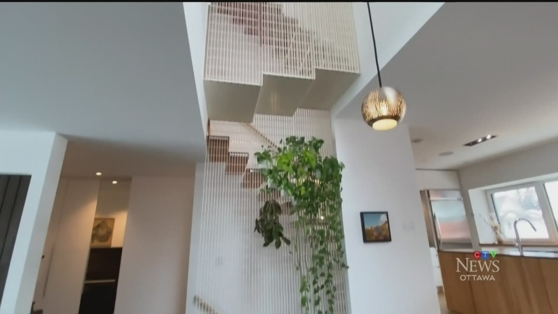 A look inside a Hintonburg home that uses almost no energy. (Tyler Fleming/CTV News Ottawa)