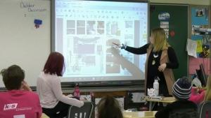Milestone school tests outdoor classroom