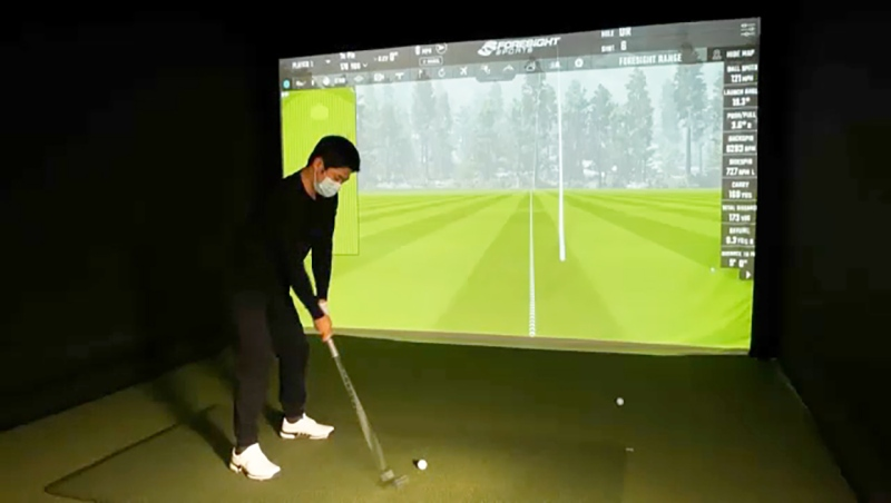 A quad launch monitor similar to the ones used by PGA players is now available at Hotel Arts downtown, where owner Garrett Jenkinson has launched a pop-up golf centre