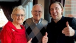 33-year-old Kory Mathewson and his grandparents. (Kory Mathewson)