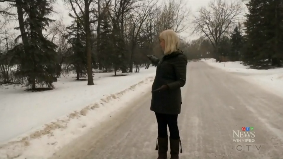 Monica DuBois (pictured) is a long-time resident of Charleswood and is concerned about what a proposed development in her neighbourhood could mean for its green space. (Source: Rachel CrowSpreadingWings/ CTV News Winnipeg)