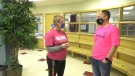 Pink Shirt Day celebrated at Lindsay Thurber Comprehensive High School. Feb. 24, 2021. (Nav Sangha/CTV News Edmonton)