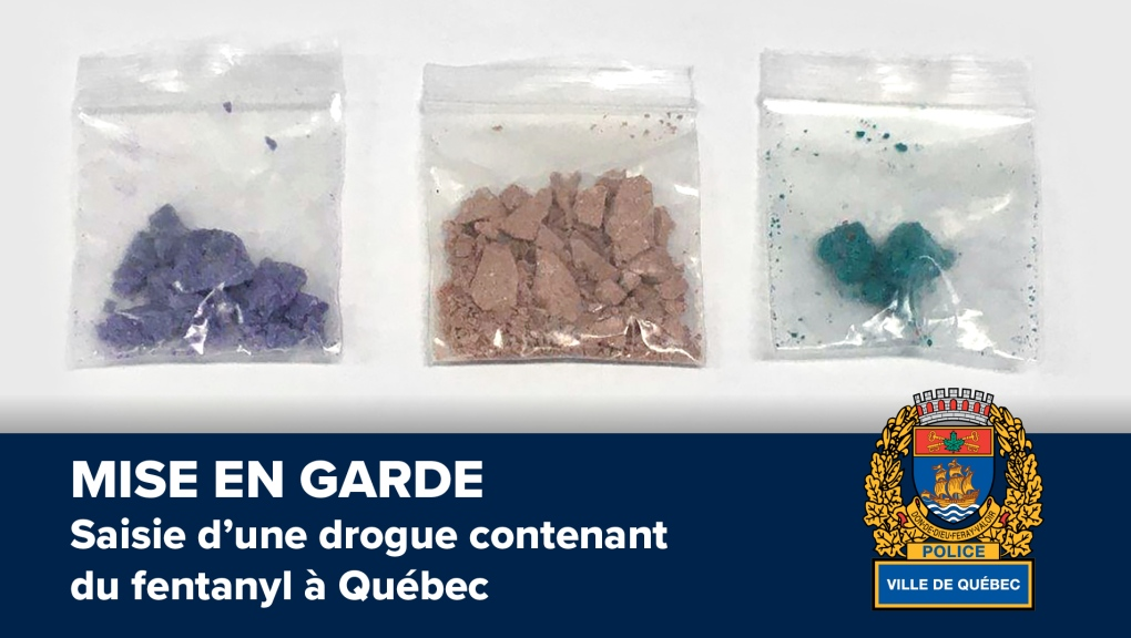 Quebec City police seize drugs containing Fentanyl