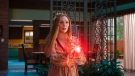 Elizabeth Olsen as Wanda Maximoff in a scene from 'WandaVision.' (Marvel Studios via AP)