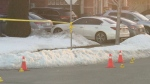 A 22-year-old man is in hospital with life-threatening injuries after a shooting in Brampton overnight.