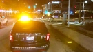 A pedestrian was hit at the intersection of Jasper Avenue and 109 Street on Wednesday, Feb. 24, 2021. (Sean Amato/CTV News Edmonton)